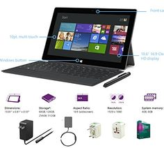 "New Microsoft Surface Pro 2 Core i5-4200U 8G 512GB 10.6"" touch screen 1920x1080 Full HD Wacom Pen Windows 8 Pro Multi-position Kickstand Microsoft http://www.amazon.com/dp/B00MSV0MKC/ref=cm_sw_r_pi_dp_8exxub0THHPKD"