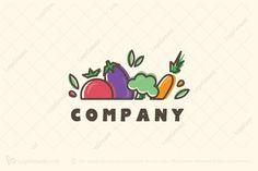 Logo for sale: Veggies Logo by uploaded on Fun, vibrant and simple logo representing colorful bunch of vegetables. Logo Fruit, Logos, Logo Branding, Bio Logo, Fruit Icons, Organic Market, Food Menu Design, Organic Logo, Colorful Fruit