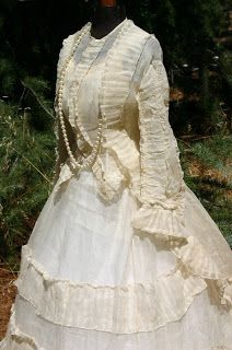 late 1860's possible Summer Wedding dress