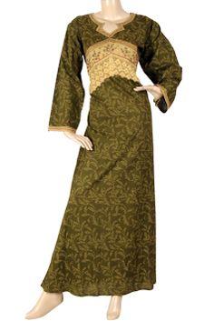 "aljalabiya.com: ""Fayette"" Cotton patterned jalabiya (N-10715)   $59.00"