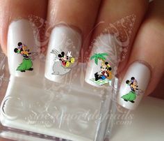 Mickey Minnie Mouse Summer water Decals Transfers Wraps