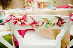 Pinwheel wedding decor.