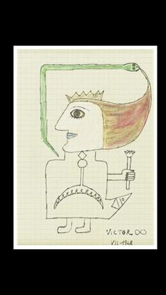 Victor Brauner - Femme, 1948. India ink and colored pencil - 17 x 24 cm.