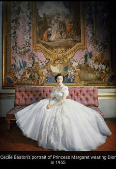 Princess Margaret in Dior 1955