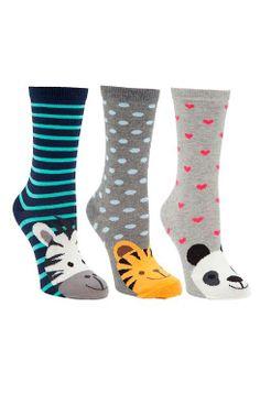 Buy John Lewis Novelty Wild Animals Ankle Socks, Pack of Multi from our Tights & Socks range at John Lewis & Partners. Patterned Socks, Striped Socks, Sock Animals, Wild Animals, Fashion Socks, Uk Fashion, Socks World, Floral Socks, Key Bag