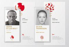 Kenya Hara Tokyo Japan 2020 olympics stationary in Japanese Design Identity Card Design, Brochure Design, Visual Identity, Branding Design, Corporate Design, Id Design, Badge Design, Store Design, Olympic Idea