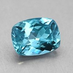 8x6mm Teal Cushion Sapphire from Brilliant Earth, best color ever!