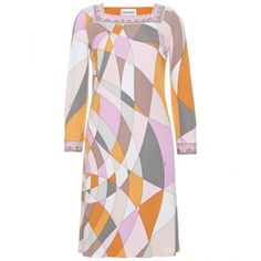 Emilio Pucci Characteristic Print Dress ($1,079) ❤ liked on Polyvore
