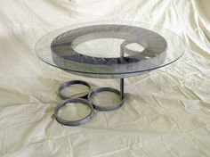 Custom Made Aeronautical Jet Engine Coffee Table by Monumental Fabrication of America