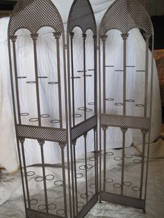 Metal Screen with Candle Holders