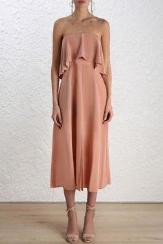 Zimmermann Silk Flounce Dress