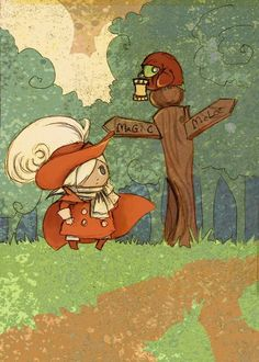 The Red Mage Quandry by theGorgonist on Etsy