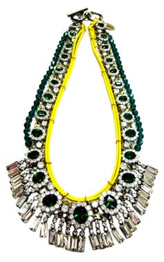 Neon Rope And Crystal Necklace by Venna for Preorder on Moda Operandi