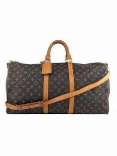 54848450234a Louis Vuitton Vintage Monogram Keepall Bandouliere 55 Duffel Bag Lv  Handbags