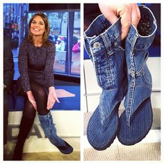 Jean Sandal Boots on the Today Show