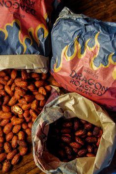 Harry Potter; Weasleys' Dragon Roasted Nuts - Food in Literature