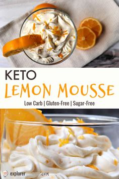 Fresh and delicious keto lemon mousse is the perfect dessert or fat bomb for spring. A delicious gluten-free almond flour crust/topping adds a salty and crunchy contrast to the creamy mascarpone mousse. Lemon Mousse, Pumpkin Mousse, Dessert Recipes, Keto Desserts, Kid Friendly Meals, Almond Flour, Low Carb Recipes, Delish, Favorite Recipes