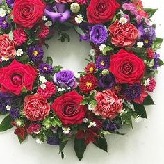 Fresh flower wreaths
