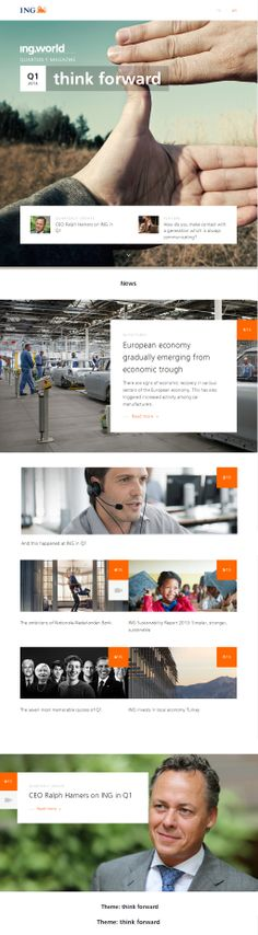 Cool Web Design on the Internet, ING. #webdesign #webdevelopment #website @ http://www.pinterest.com/alfredchong/web-design/