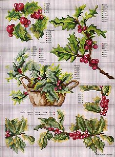 Cross Stitch Holly