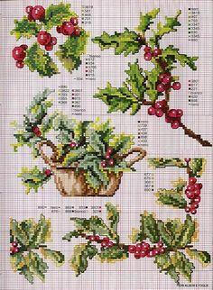 Cross Stitch Holly