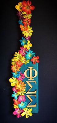 Flowery Phi Sig Paddle                                                                                                                                                                                 More