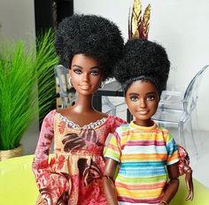 Beautiful Barbie Dolls, Vintage Barbie Dolls, Barbies Dolls, Dolls Dolls, Barbie Sisters, Barbie Family, Beautiful Black Babies, Pretty Black, Barbie World