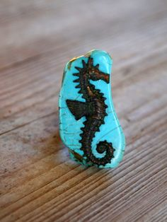 Turquoise Sea Horse Ring