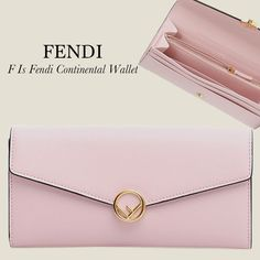 7a5441830eb5 FENDI F is フェンディコピー レザー 長財布 8M0251A18BF01KW パウダーピンク フラップ長財布 ピンクレザー