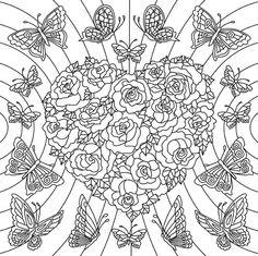 Desenho+Paper+Color+02+Rosas+&+Borboletas+-+Iara+Capraro