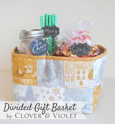 Clover & Violet — Divided Gift Basket Tutorial {Windham Christmas in July Blog Hop & Giveaway}