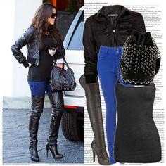 Khloe Kardashian Style, created by missjoejonas on Polyvore