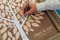 Would like to do this! Wedding Wish Tree Signature Guestbook by PERSONALIZEDprints, $38.00