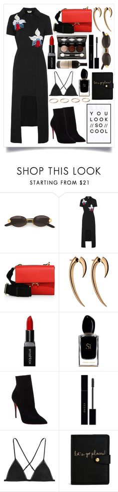 """♥️"" by fashioneex ❤ liked on Polyvore featuring Gianfranco Ferré, Fendi, Marni, Shaun Leane, Smashbox, Giorgio Armani, Vincent Longo, Boodles, Christian Louboutin and Gucci"