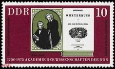 Briefmarke DDR von 1975, Deutsches Wörterbuch