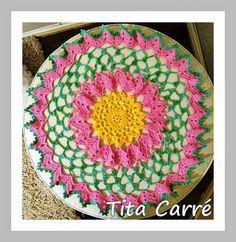 Tita Carré  Agulha e Tricot : Toalha Inspiração de Flores em crochet