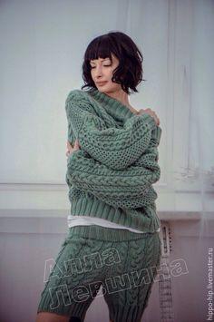 Купить Шорты с аранами - комбинированный, Шорты вязаные, шорты зимние, араны, косы, необычно, мода.Шорты спицами