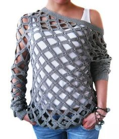 CrissCross Top free crochet graph pattern