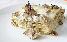 Lasagne con carciofi e scamorza