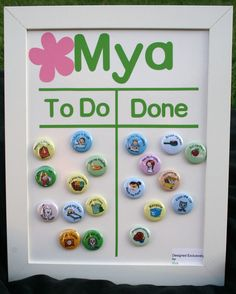 great idea for a chore chart- lets them be hands on (amazing what kids will do when they get to add a sticker, move a magnet, etc)