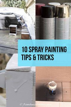 If you're wondering how to spray paint furniture (or any other spray painting projects) without drips, then read these easy tips. They're helpful ideas for simple ways to spray paint evenly. I am so saving these spray painting techniques to try myself soon!!