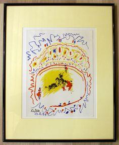 La+corrida$2C+Pablo+Picasso+Lithografie++40x50cm+gerahmt+.JPG 2.080×2.547 Pixel
