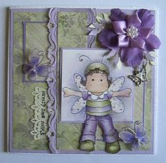 *Magnolia DRAGONFLY TILDA Rubber Stamp Chasing Butterflies Collection 2009