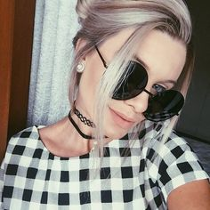 Bianca Petry: OVERSIZE VINTAGE INSPIRED METAL ROUND CIRCLE SUNGLASSES 8370