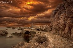 Sunset in Cala Canyet Us Travel, Sunrise, Explore, Architecture, Water, Photography, Outdoor, Gripe Water, Outdoors