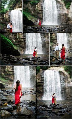 asheville engagement,asheville wedding photographer,looking glass falls,looking glass falls engagement,pisgah national forest,