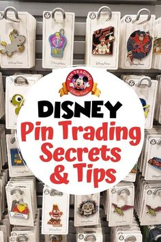 Part of what makes Disney pin trading so much fun is that you never know what you might find and where you might find them. We've been pin trading for years and have come up with some great Disney pin trading secrets & tips to share. Disney Insider, Disney Tips, Disney Secrets, Disney Stuff, Disney Planning, Disney Parks, Disney Memes, Disney Pin Trading, Disneyland Pin Trading