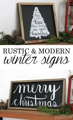 Gifts for them, and decor for you! You won't want to miss my new Winter Sign Collection that is jammed packed full of rustic and modern holiday goodness! http://thesummeryumbrella.com/2016/10/winter-sign-collection/