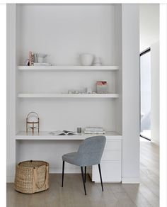 Desk Nook, Office Nook, Home Office Space, Home Office Design, Home Office Furniture, Home Office Decor, Small Office, Hallway Office, Office Chairs