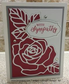 Dena Lenneman, Stampin' Up! Demonstrator: Stamp-A-Stack Rose Wonder Rose Garden Thinlits Sympathy